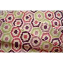 Pink hexagonal print sling (Fabric sling only)