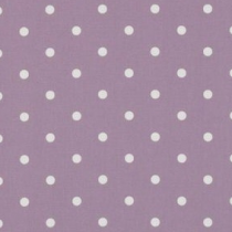 Clarke and Clarke Spotty Mauve curtain Fabric (per metre)