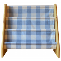 Pine book sling with blue check print